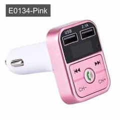 JINSERTA Car Bluetooth 5.0 Mp3 Player FM Transmitter Handsfree Audio Receiver car Pickandshop E0134-Pink