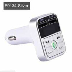 JINSERTA Car Bluetooth 5.0 Mp3 Player FM Transmitter Handsfree Audio Receiver car Pickandshop E0134-Silver