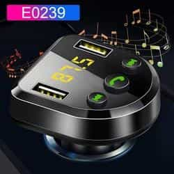 JINSERTA Car Bluetooth 5.0 Mp3 Player FM Transmitter Handsfree Audio Receiver car Pickandshop E0239