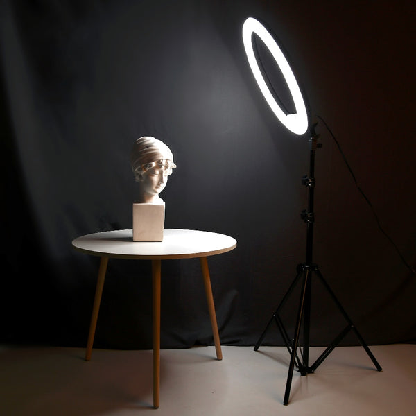 18Inch Photo Studio lighting LED Ring Light Touch Control Photography Dimmable Ring Lamp With 2M Stand for Portrait,Makeup,Video