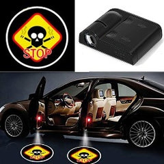 1pcs Universal Wireless Led Car Door Light Shadow Laser LED Shadow Projector Courtesy Step Lights Car Emblem Lamps  Accessories - Pickandshop