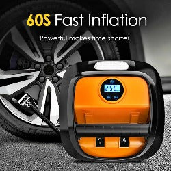 12V Air Compressor Car Tyre Inflator Mini Electric Auto Car Air Pump 150 PSI Car Air Compressor for Auto Car Motorcycles Bicycle - Pickandshop