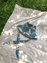 Load image into Gallery viewer, Handmade Upcycled Linen Printed Sun Bonnet