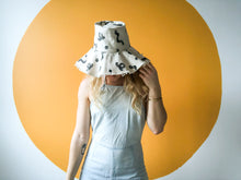 Load image into Gallery viewer, Handmade Printed Squiggle Sun Hat