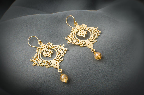 Rohani Citrine Earrings