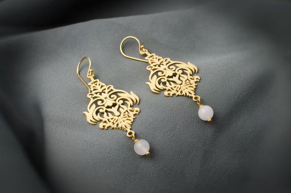 Rohani Rose Quartz Earrings