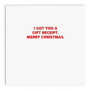 All I want for Christmas is a gift receipt