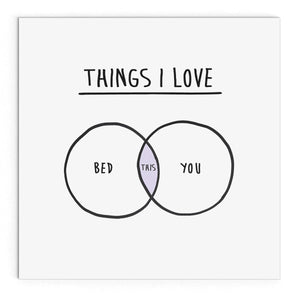 Things I love (bed and you)