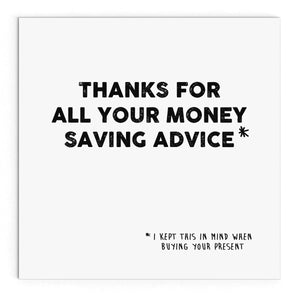 Money saving advice