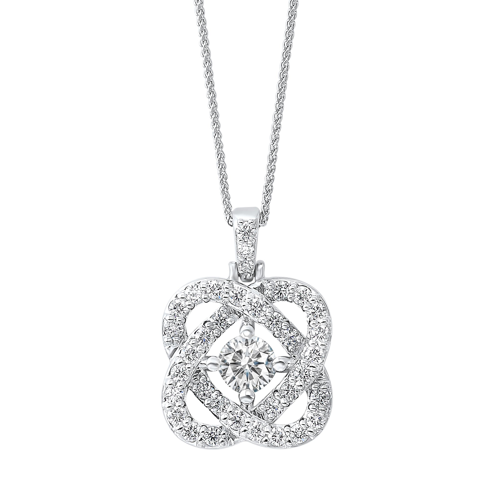 Love's Crossing Diamond Pendant in 14K White Gold (1/4 ct. tw.)