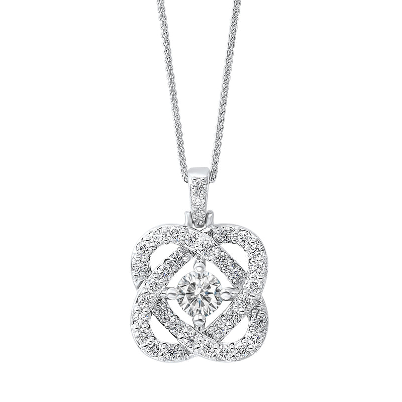 Love's Crossing Diamond Pendant in 14K White Gold (1 ct. tw.)