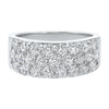 14K White Gold Multi Row Prong Diamond Band (2 ct. tw.)
