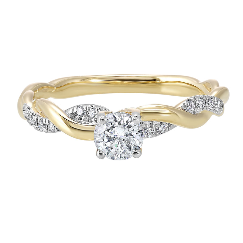 14K Yellow Gold Cash&Carry Micro Prong Diamond Ring (1/2 ct. tw.)