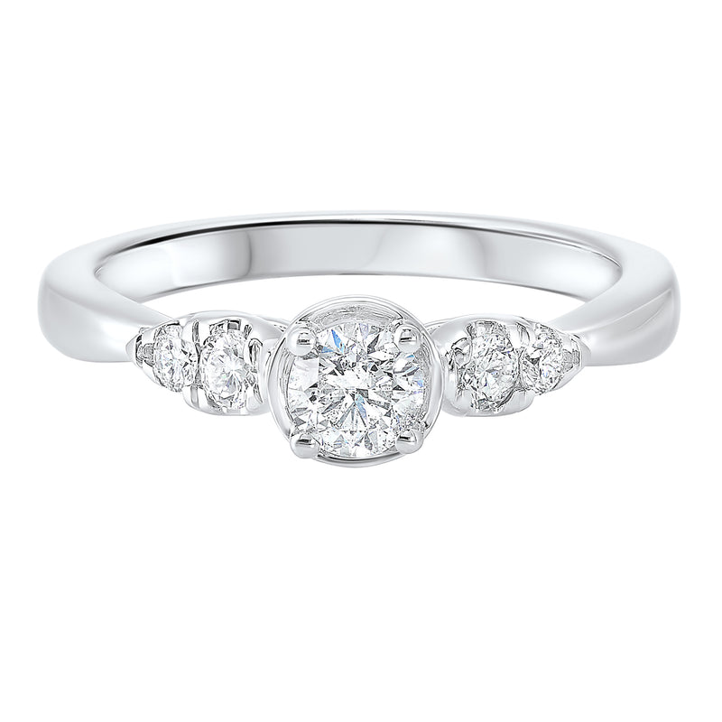 14K White Gold Cash&Carry Prong Diamond Ring (1/2 ct. tw.)