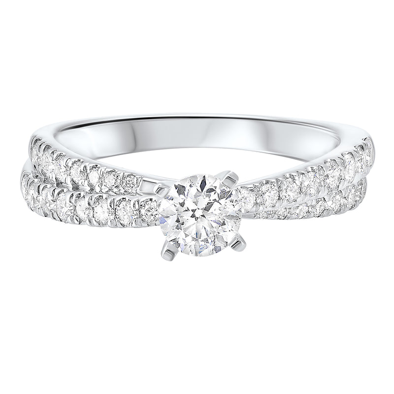 14K White Gold Cash&Carry Micro Prong Diamond Ring (1 ct. tw.)