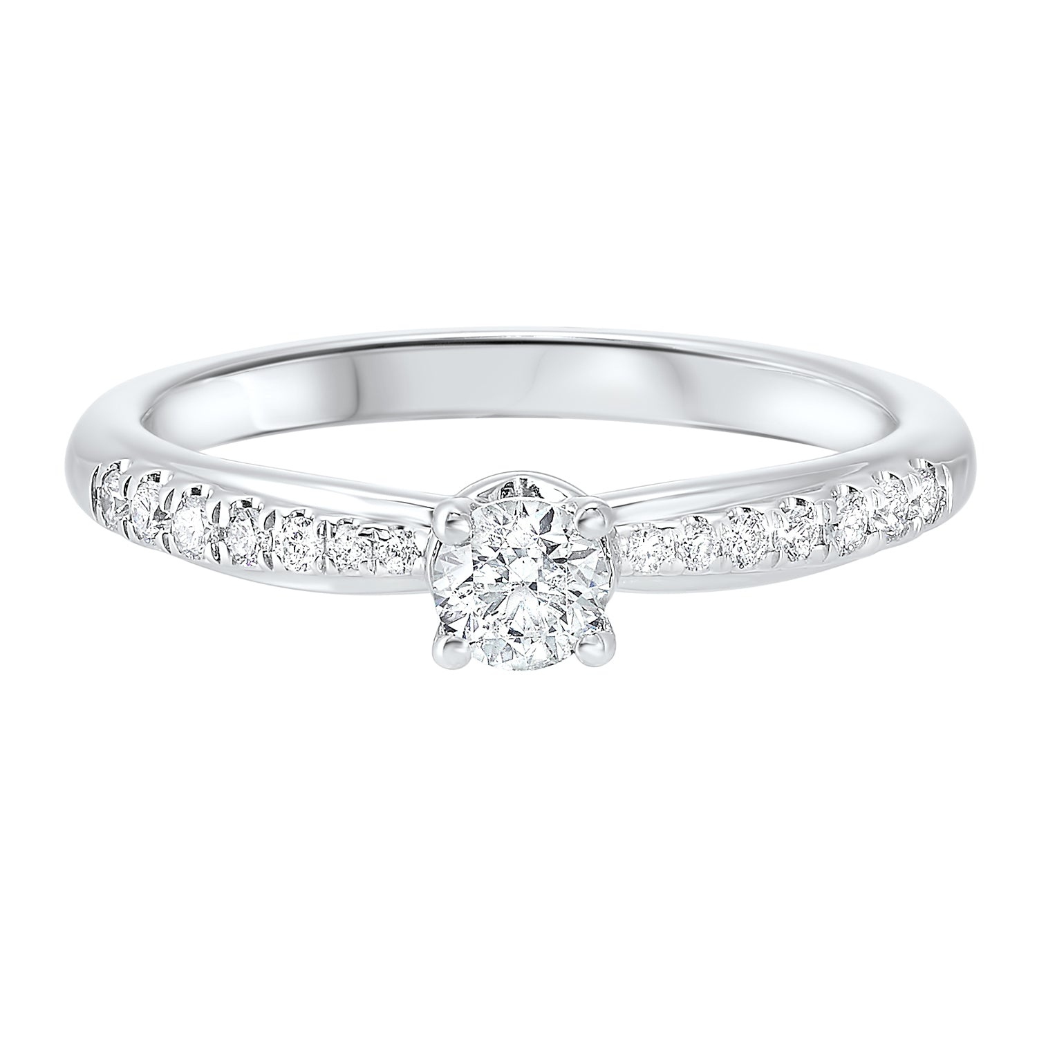 14K White Gold Shared Prong Bridal Ring (3/8 ct. tw.)