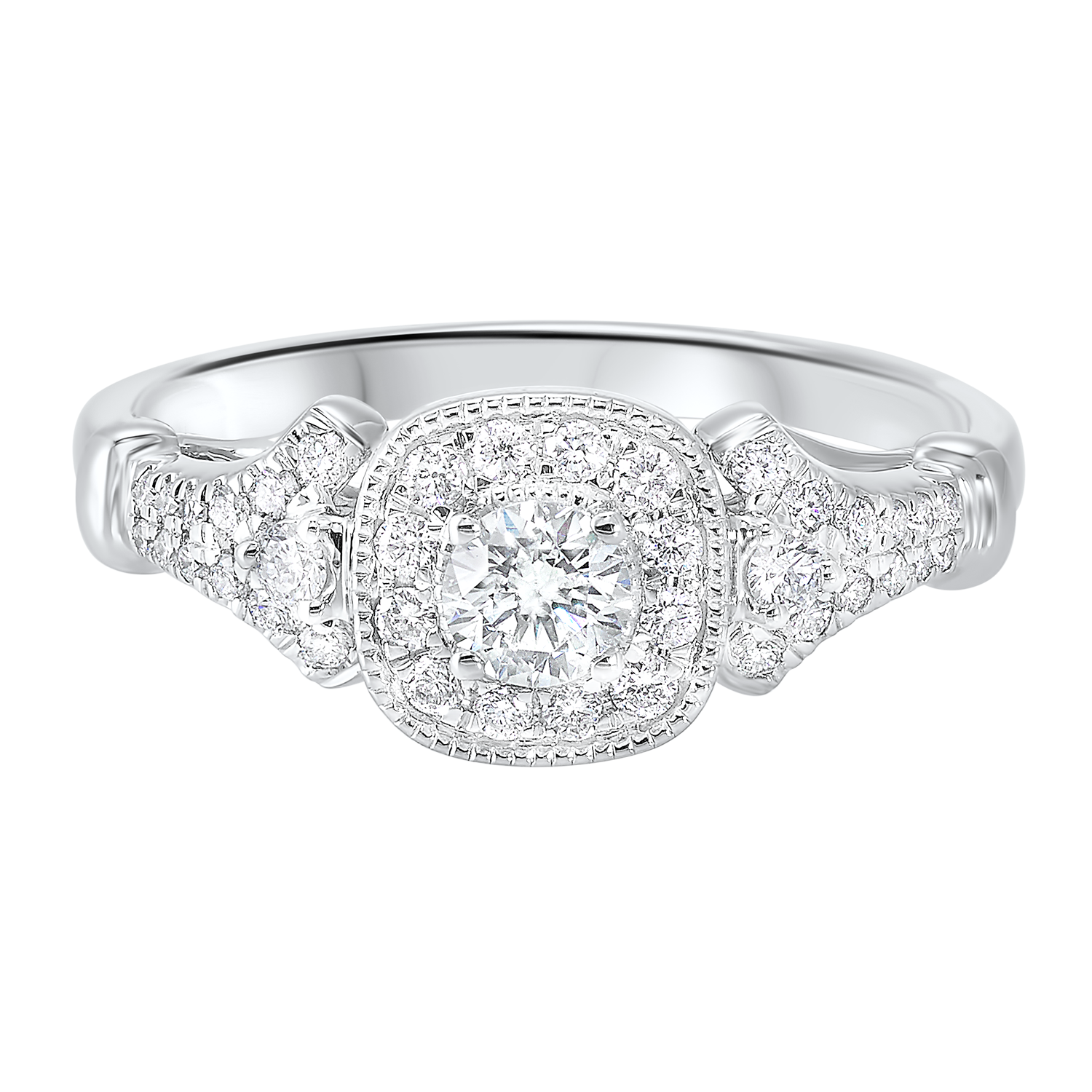 14K White Gold Cash&Carry Micro Prong Diamond Ring (3/5 ct. tw.)