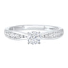 14K White Gold Cash&Carry Channel Diamond Ring (3/4 ct. tw.)