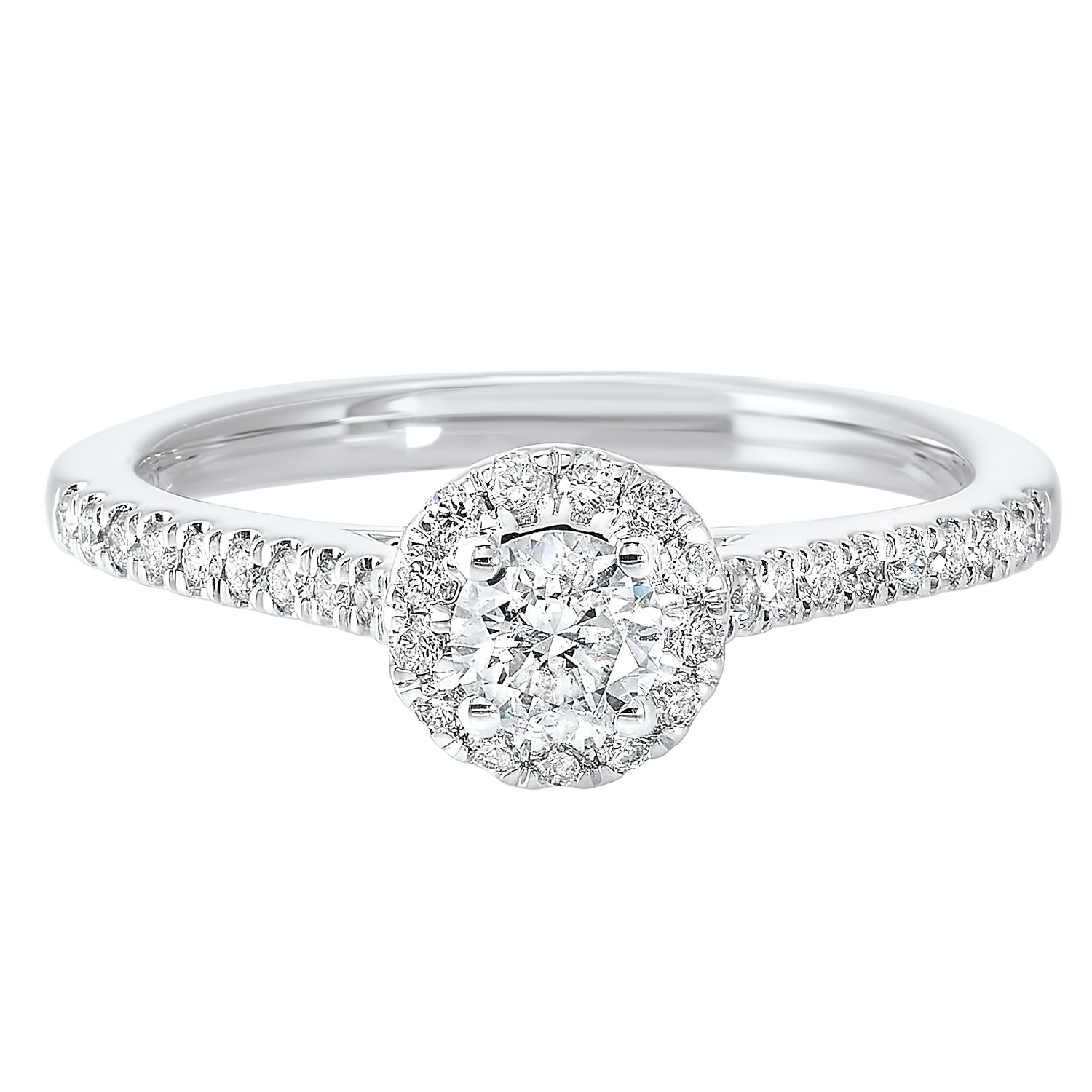 14K White Gold Cash&Carry Shared Prong Diamond Ring (1/2 ct. tw.)