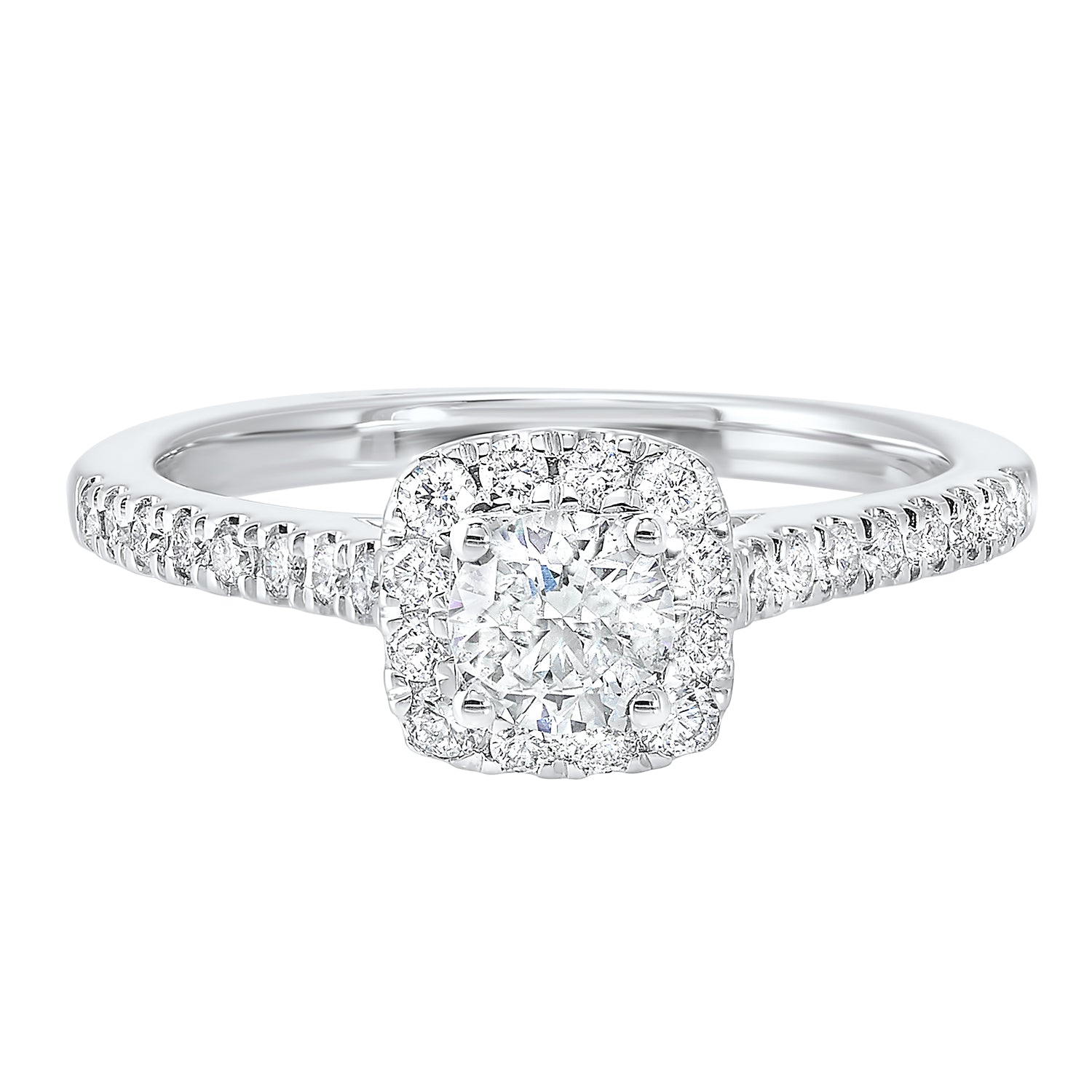 14K White Gold Cash&Carry Split Prong Diamond Ring (3/4 ct. tw.)