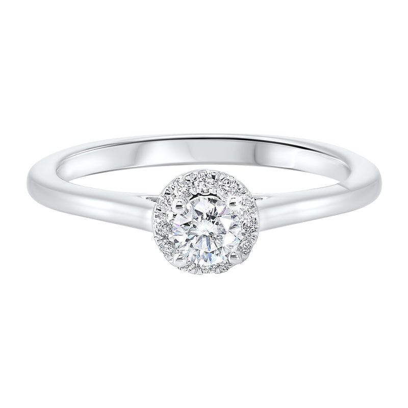 14K White Gold Cash&Carry Micro Prong Diamond Ring (1/3 ct. tw.)