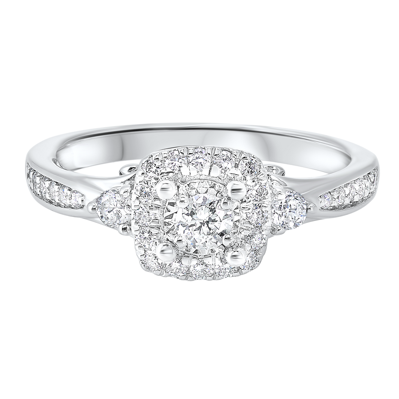 14K White Gold Cash&Carry Micro Prong Diamond Ring (1/2 ct. tw.)