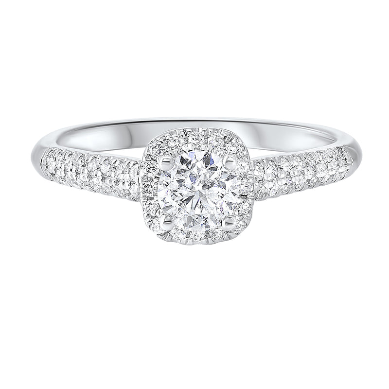 14K White Gold Cash&Carry Prong Diamond Ring (3/4 ct. tw.)