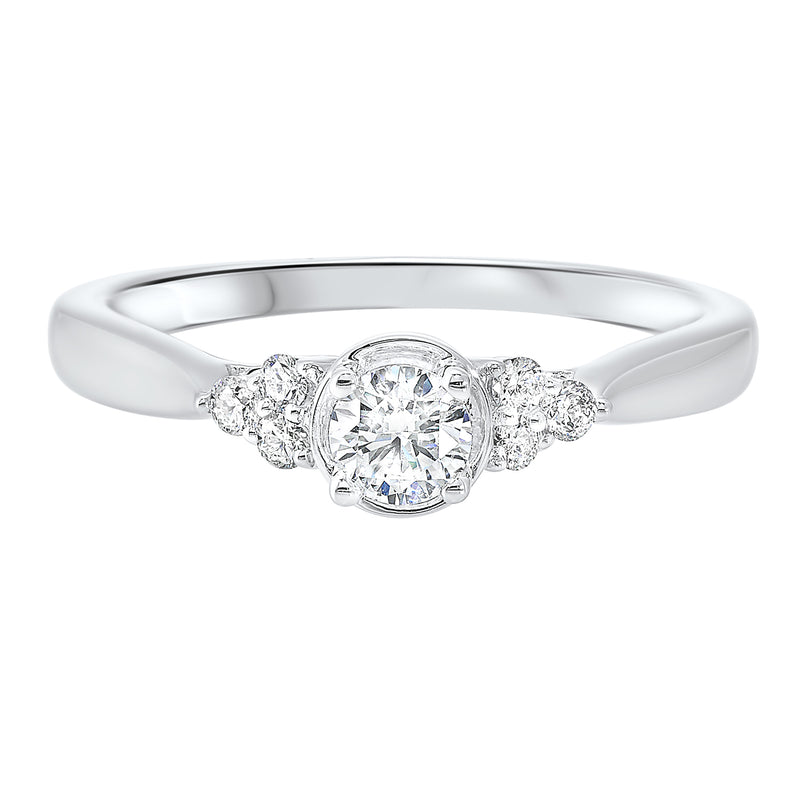 14K White Gold Cash&Carry Prong Diamond Ring (1/3 ct. tw.)