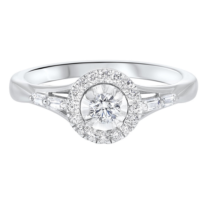 14K White Gold Cash&Carry Micro Prong Diamond Ring (2/5 ct. tw.)