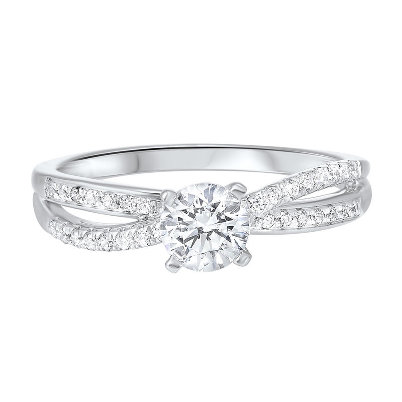 14K White Gold Cash&Carry Split Prong Diamond Ring 2/(3 ct. tw.)