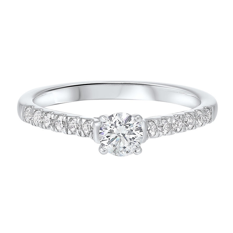 14K White Gold Cash&Carry Prong Diamond Ring (3/5 ct. tw.)
