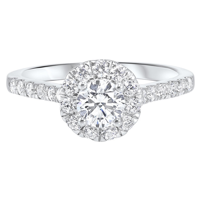 14K White Gold Cash&Carry Split Prong Diamond Ring (1 ct. tw.)