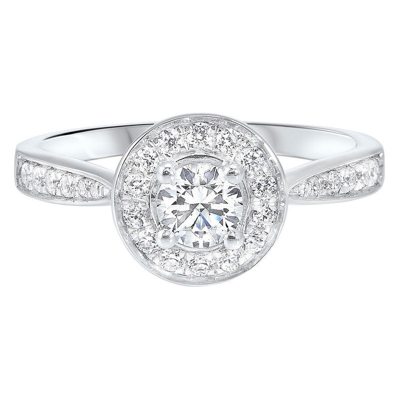 14K White Gold Cash&Carry Micro Prong Diamond Ring (3/4 ct. tw.)