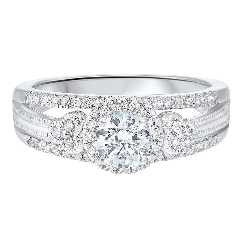 14K White Gold Cash&Carry Split Prong Diamond Ring (7/8 ct. tw.)