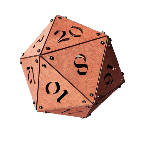 Giant Wooden D20