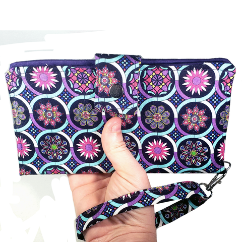 Stained Glass Slim Bi-Fold Wallet w/ Wristlet