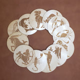 Wooden Stickers - Zodiac