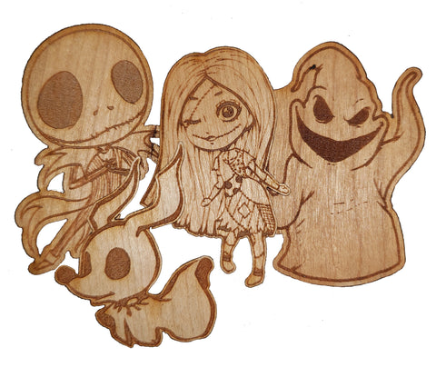 Wooden Stickers - Nightmare
