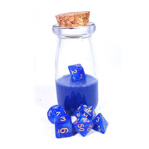 Blue Dice Shaker Potion Bottle
