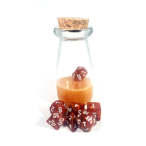 Gold Dice Shaker Potion Bottle