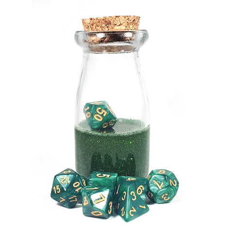 Green Dice Shaker Potion Bottle