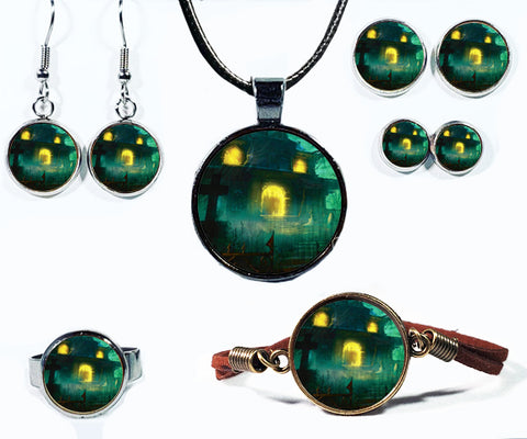 Haunted House Board Game Jewelry Collection