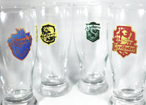Magical House Crest Pilsner Glass Set