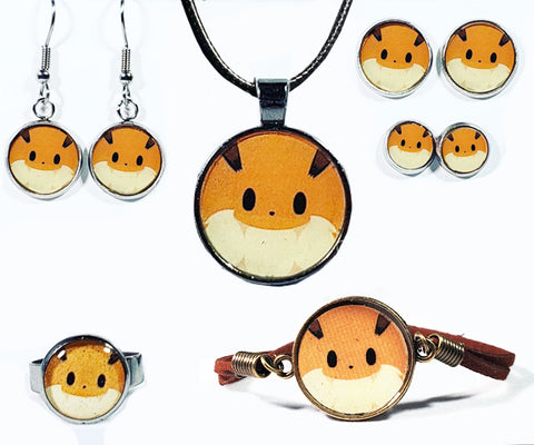 Cute Monster Cat Jewelry Collection