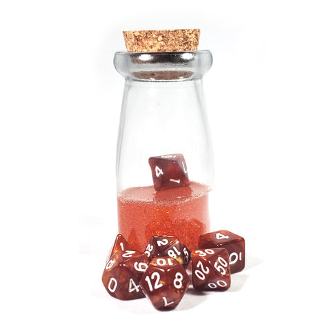 Orange Dice Shaker Potion Bottle