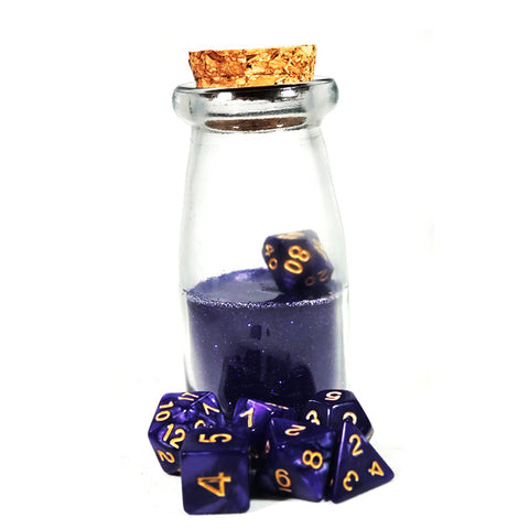 Purple Dice Shaker Potion Bottle