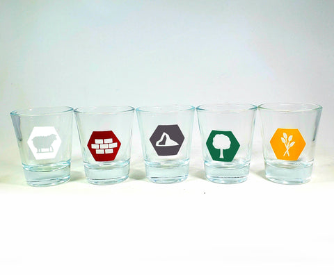 Resource Trading Game Shotglass Set