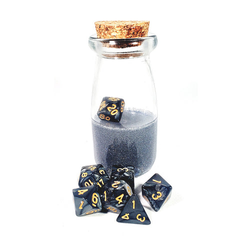 Gunmetal Gray Dice Shaker Potion Bottle