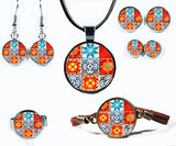 Spanish Tile Board Game Jewelry Collection