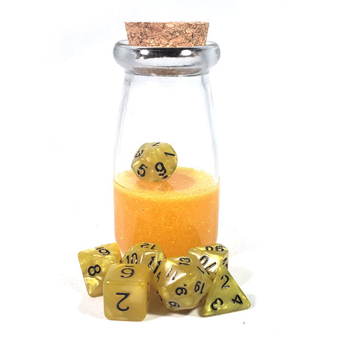 Yellow Dice Shaker Potion Bottle